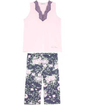Pijama-Plus-Size-Feminino-Lua-Cheia-Pescador-Floral