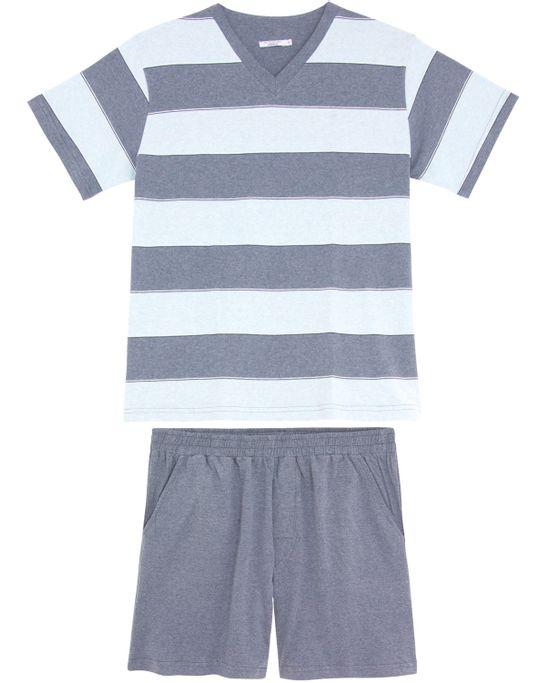 Pijama-Masculino-Podiun-Curto-Algodao-Listras