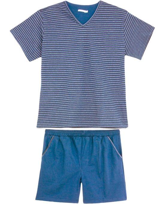 Pijama-Masculino-Podiun-Curto-Listras-Mescla