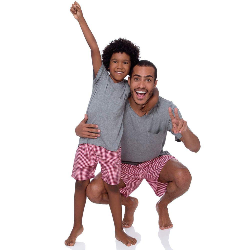Pijama-Infantil-Masculino-Joge-Viscolycra-Short-Xadrez