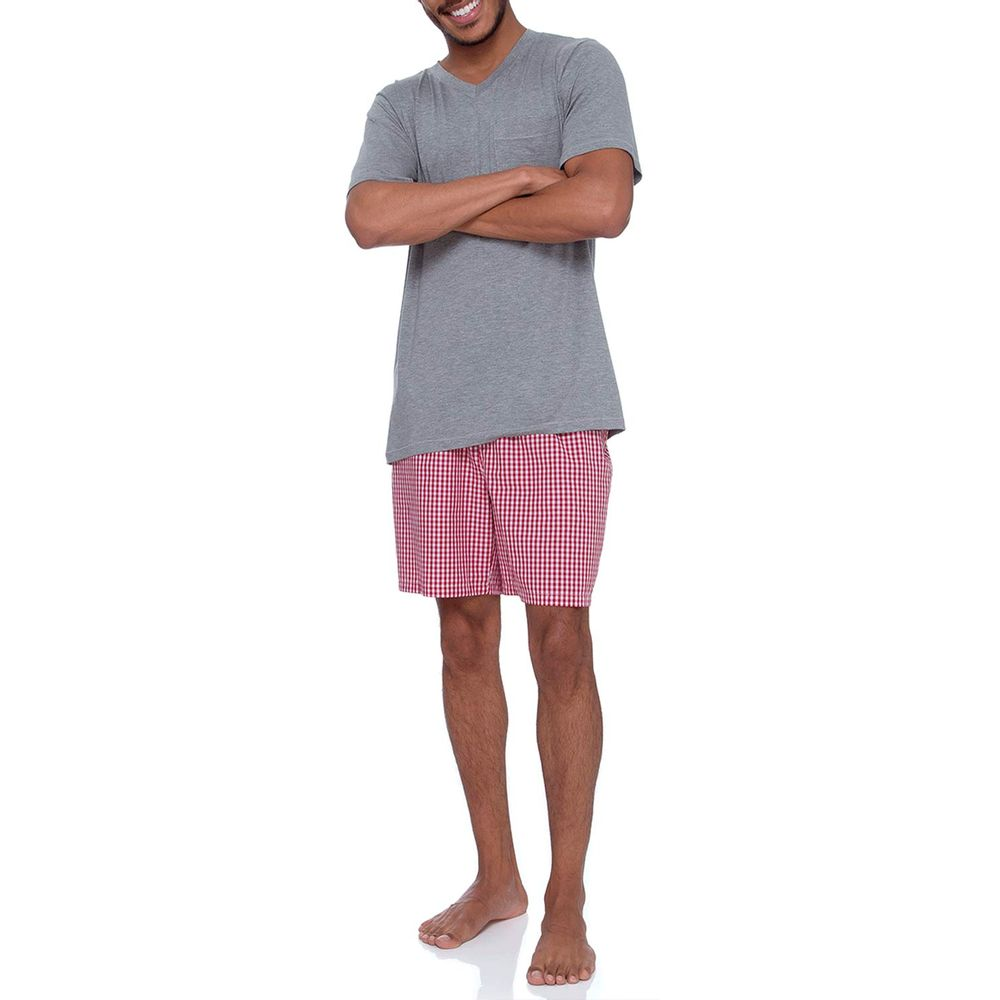 Pijama-Masculino-Joge-Viscolycra-Short-Xadrez