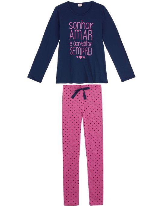 Pijama-Feminino-Lua-Encantada-Legging-Poa-Algodao