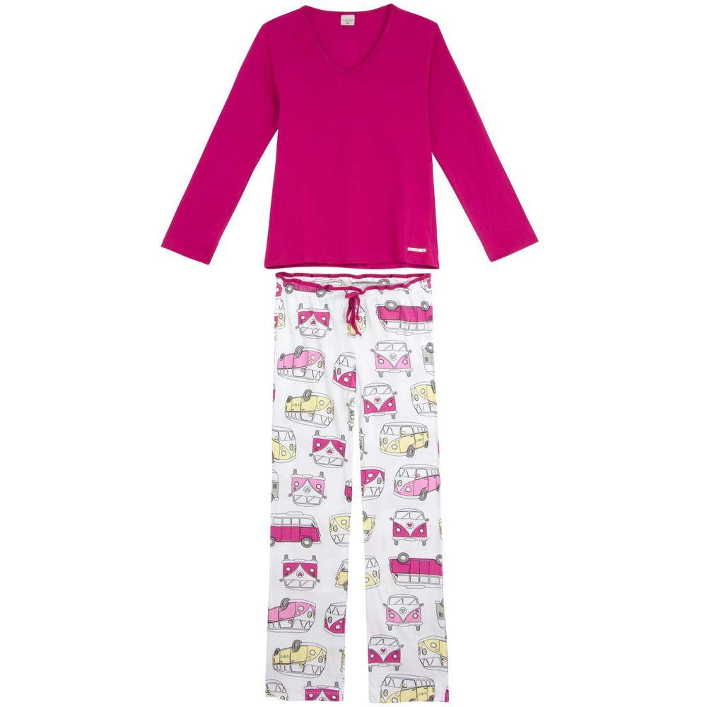 Pijama-Feminino-Lua-Encantada-Algodao-Calca-Kombi