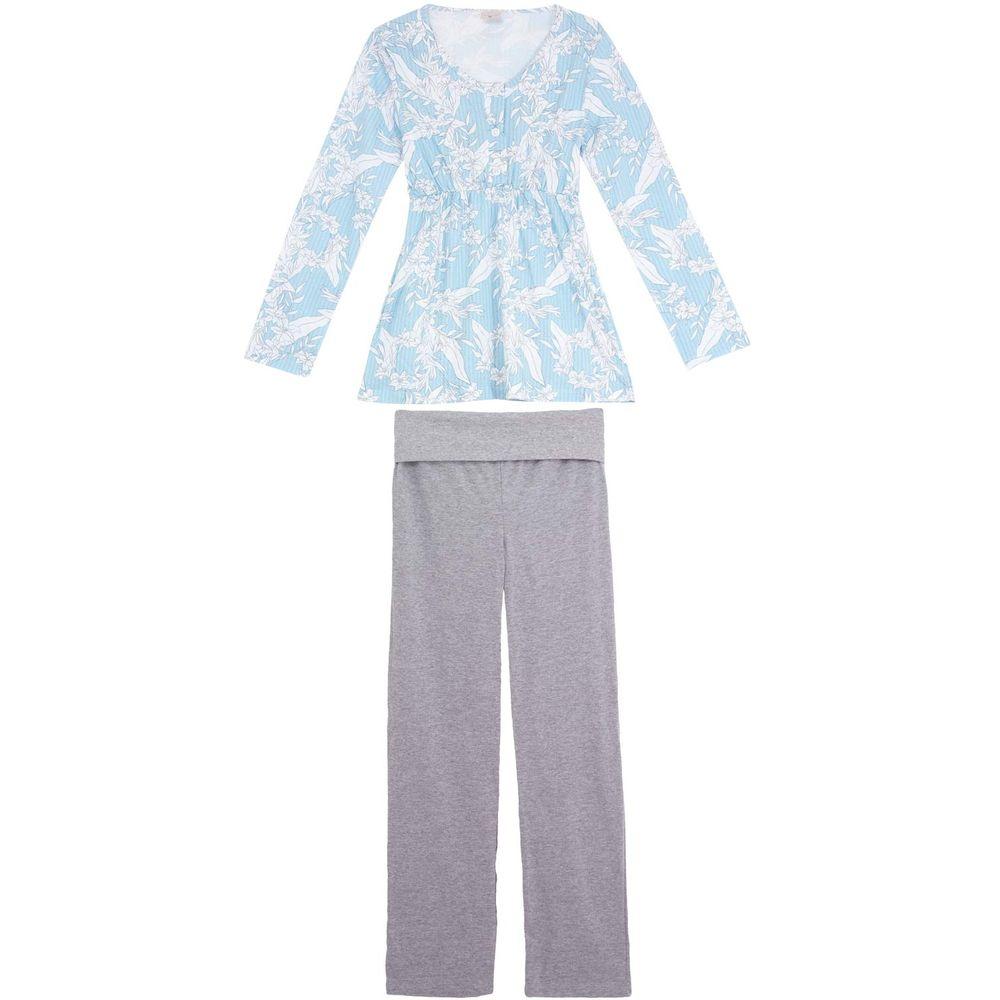 Pijama-Amamentacao-Lua-Encantada-Longo-Floral