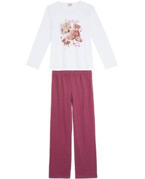 Pijama-Feminino-Lua-Encantada-Longo-Algodao-Ursos