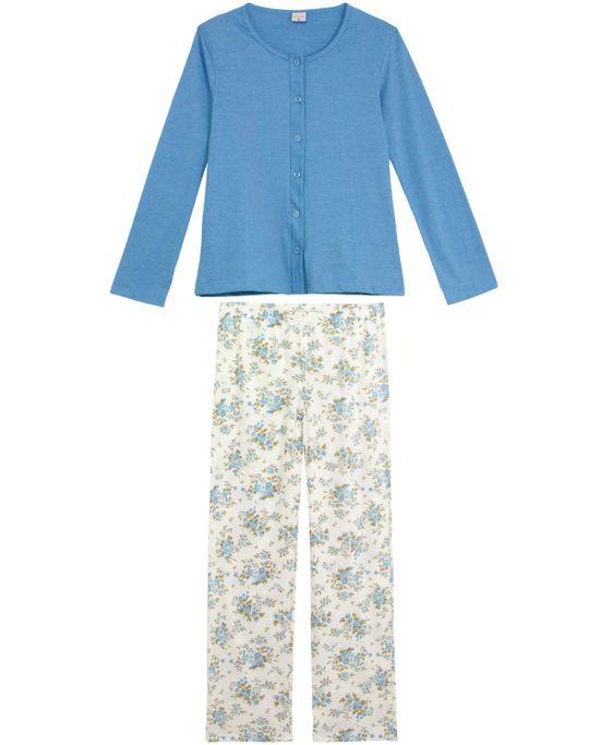 Pijama-Feminino-Lua-Encantada-Aberto-Calca-Floral
