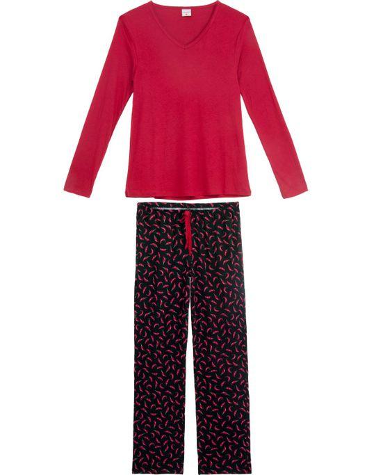 Pijama-Feminino-Lua-Encantada-Viscose-Calca-Pimenta