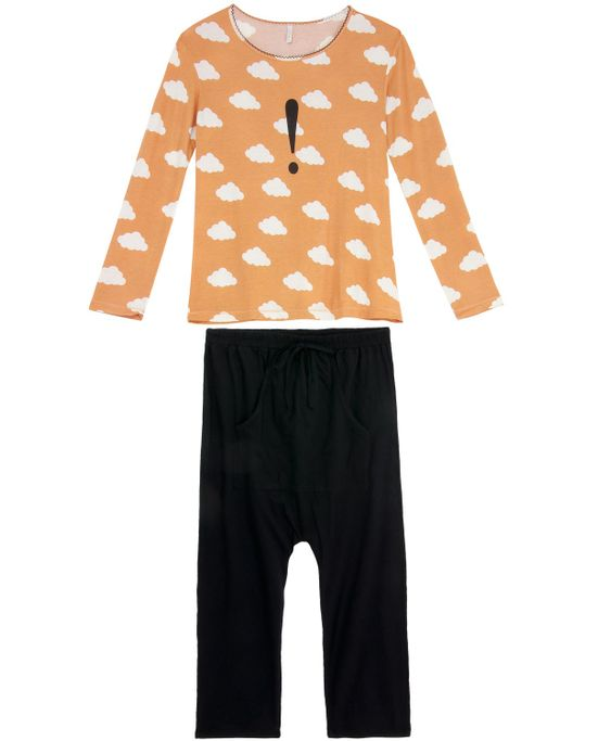 Pijama-Feminino-Joge-Longo-Viscolycra-Nuvens