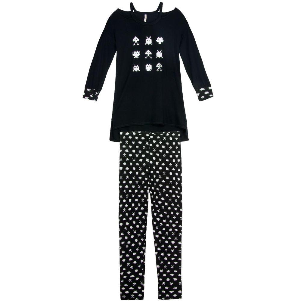 Pijama-Feminino-Joge-Longo-Visclycra-Geek-Atari