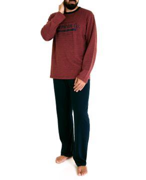 Pijama-Masculino-Fits-Well-Longo-Piquet-American
