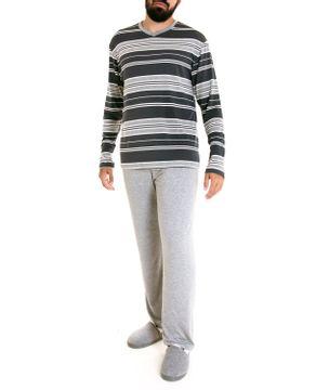 Pijama-Masculino-Fits-Well-Longo-Modal-Listras