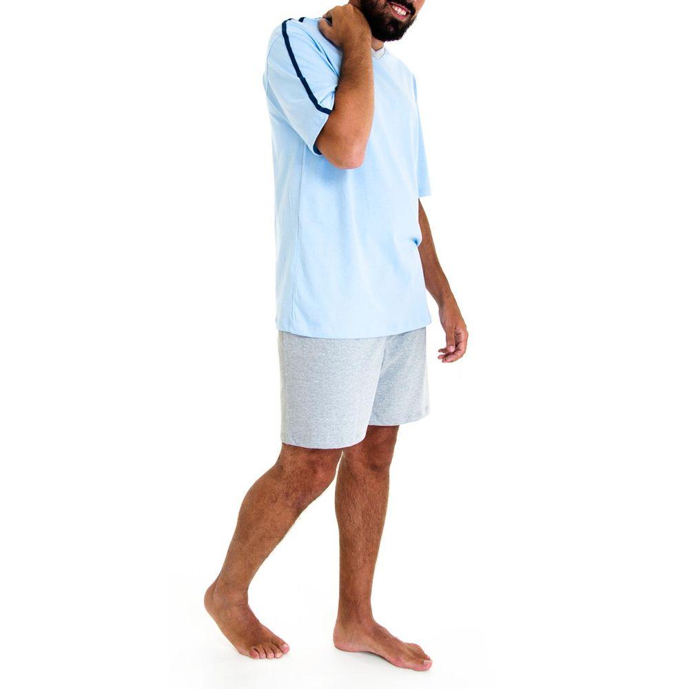 Pijama-Masculino-Fits-Well-100--Algodao-Short-Mescla