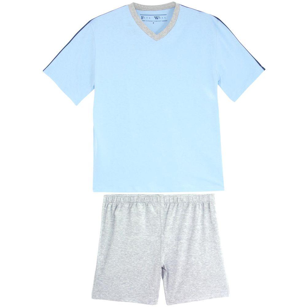 Pijama-Plus-Size-Masculino-Fits-Well-Curto-Algodao