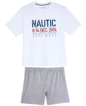 Pijama-Plus-Size-Masculino-Fits-Well-Curto-Modal-Nautic
