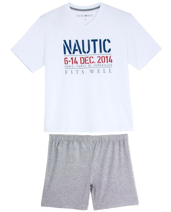 Pijama-Plus-Size-Masculino-Fits-Well-Curto-Modal-Nautic
