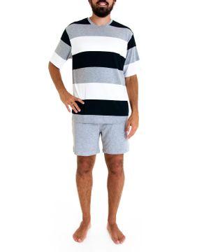 Pijama-Masculino-Fits-Well-Curto-Modal-Listra-Grande