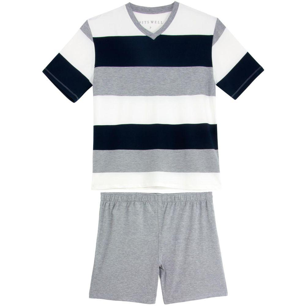Pijama-Plus-Size-Masculino-Fits-Well-Modal-Listra-Grande