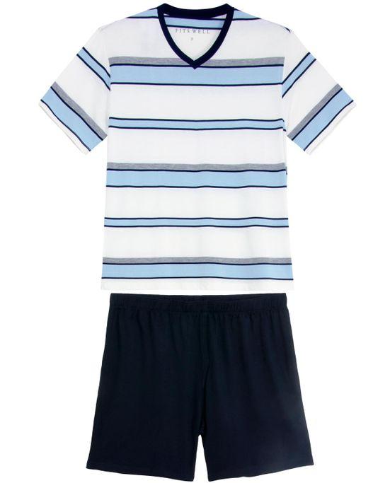 Pijama-Masculino-Fits-Well-Curto-Modal-Listras