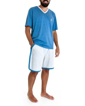 Pijama-Masculino-Lua-Cheia-Bermuda-Mescla