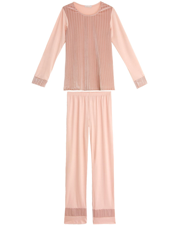 0cb99b69657c01 Pijama Feminino Daniela Tombini Longo Veludo - Pijama Online