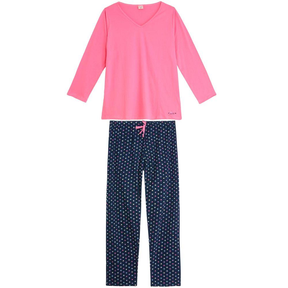 Pijama-Plus-Size-Feminino-Lua-Encantada-Longo-Love