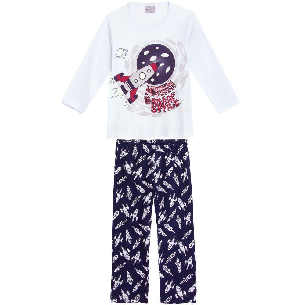 Pijama-Infantil-Masculino-Lua-Encantada-Longo-Foguete