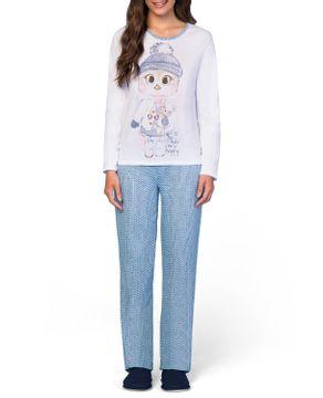 Pijama-Feminino-Lua-Encantada-Longo-Estampa-Trico