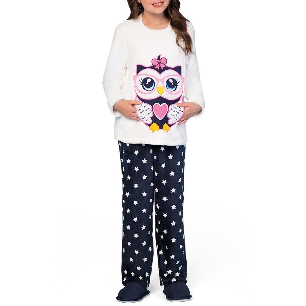 Pijama-Infantil-Feminino-Lua-Encantada-Soft-Coruja