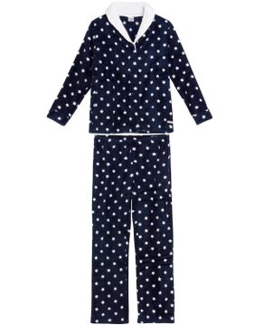 Pijama-Feminino-Lua-Encantada-Soft-Aberto-Estrelas