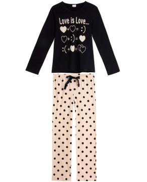 Pijama-Feminino-Lua-Encantada-Algodao-Calca-Poa