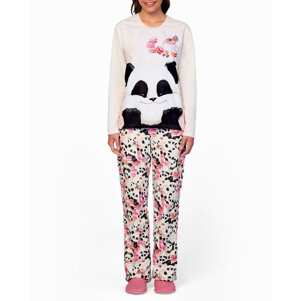 Pijama-Feminino-Lua-Encantada-Longo-Soft-Panda