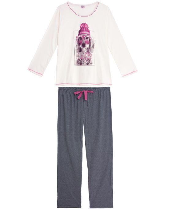 Pijama-Plus-Size-Feminino-Lua-Encantada-Algodao-Cocker