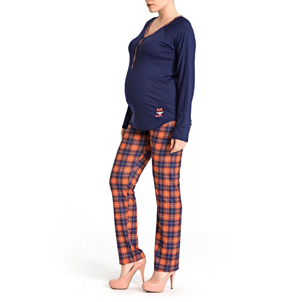 Pijama-Amamentacao-Recco-Viscolycra-Calca-Xadrez