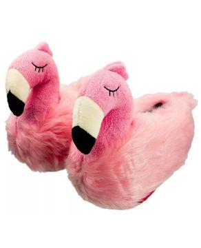 Pantufa-Flamingo-3D-Ricsen-Peluciada-Antiderrapante