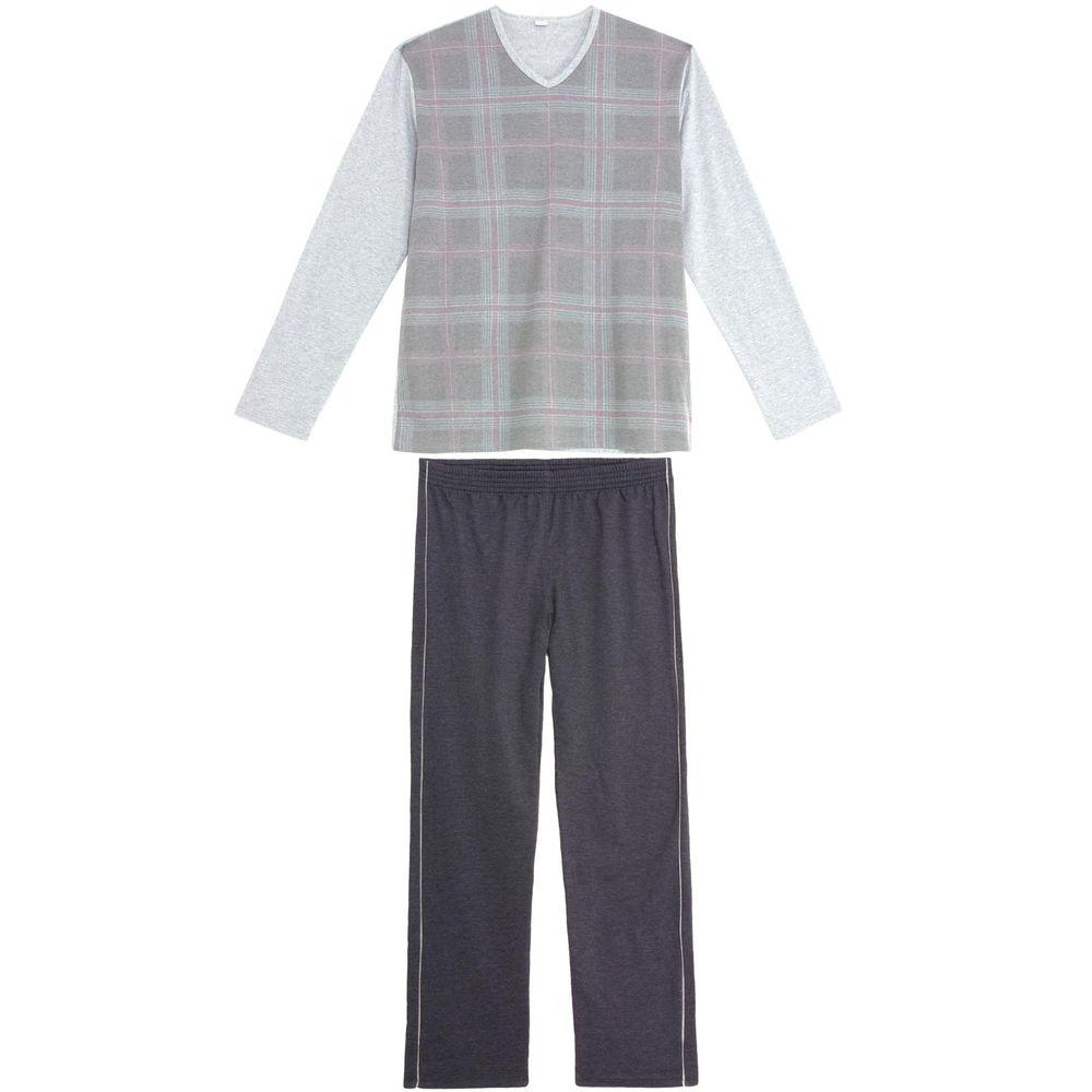 Pijama-Masculino-Recco-Malha-Flanelada-Xadrez