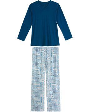 Pijama-Plus-Size-Feminino-Recco-Viscolycra-Azulejo