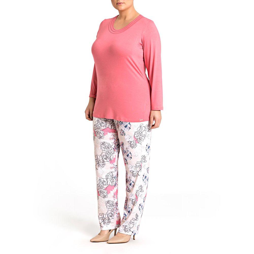Pijama-Plus-Size-Feminino-Recco-Viscolycra-Floral