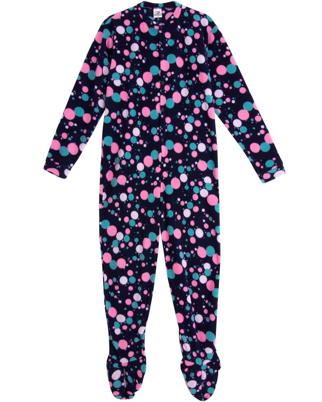 26920a06f2fc50 Macacão Adulto com Pé Papa's Wave Soft Círculos - Pijama Online