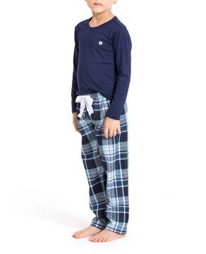 Pijama-Infantil-Feminino-Recco-Viscolycra-Calca-Xadrez