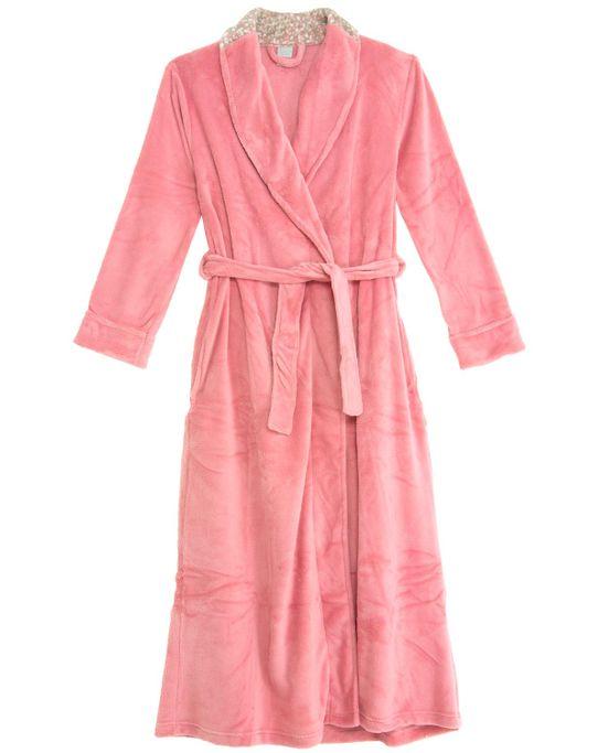 Robe-Feminino-Recco-Longo-Peluciado-Plumas