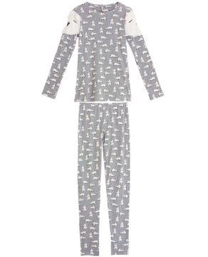 Pijama-Feminino-Lua-Lua-Longo-Urso-Polar-Peluciado