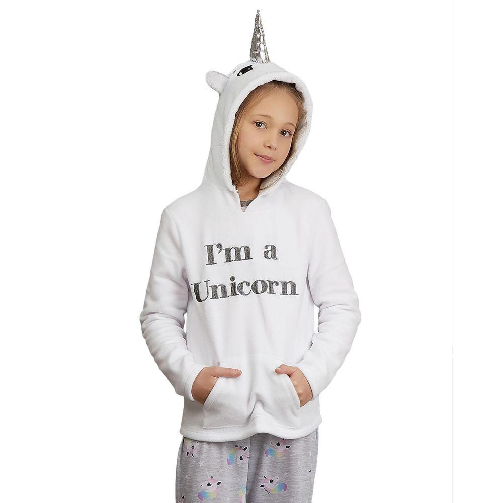 Blusa-Pijama-Infantil-Unicornio-Lua-Lua-Soft-com-Capuz