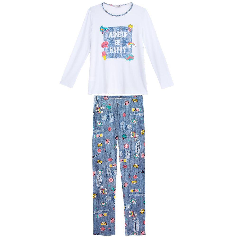 Pijama-Feminino-Lua-Cheia-Viscolycra-Estampa-Jeans
