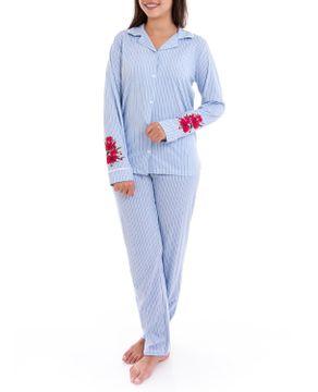 Pijama-Feminino-Lua-Cheia-Longo-Aberto-Listras