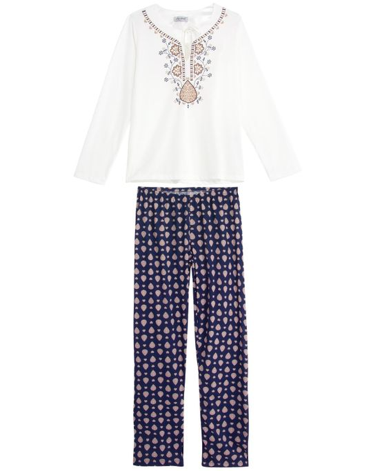Pijama-Feminino-Lua-Cheia-Longo-Bata-Peruana