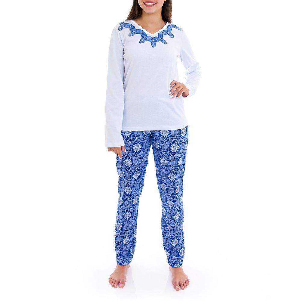 Pijama-Feminino-Lua-Cheia-Longo-Algodao-Arabesco