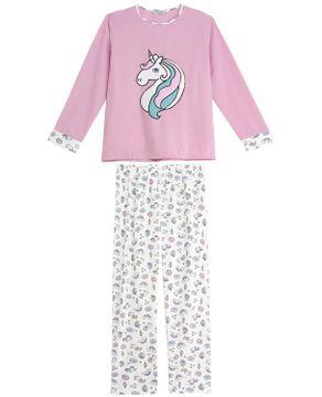 Pijama-Plus-Size-Feminino-Lua-Cheia-Flanelado-Unicornio