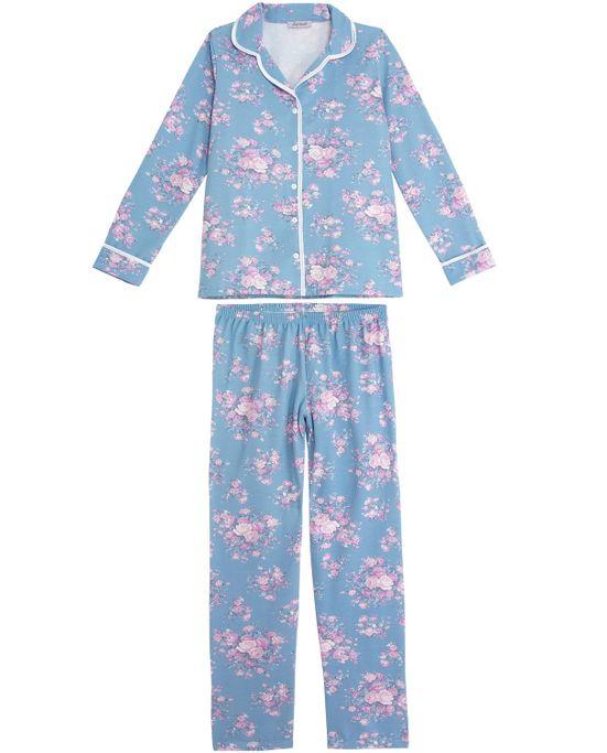 Pijama-Feminino-Lua-Cheia-Aberto-Flanelado-Floral