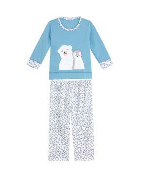Pijama-Infantil-Lua-Cheia-Longo-Flanelado-Urso-Pinguim