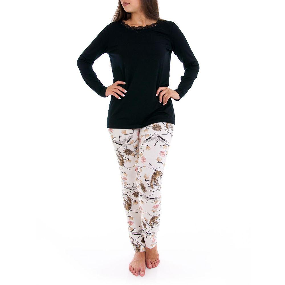 Pijama-Feminino-Lua-Cheia-Viscolycra-Calca-Floral